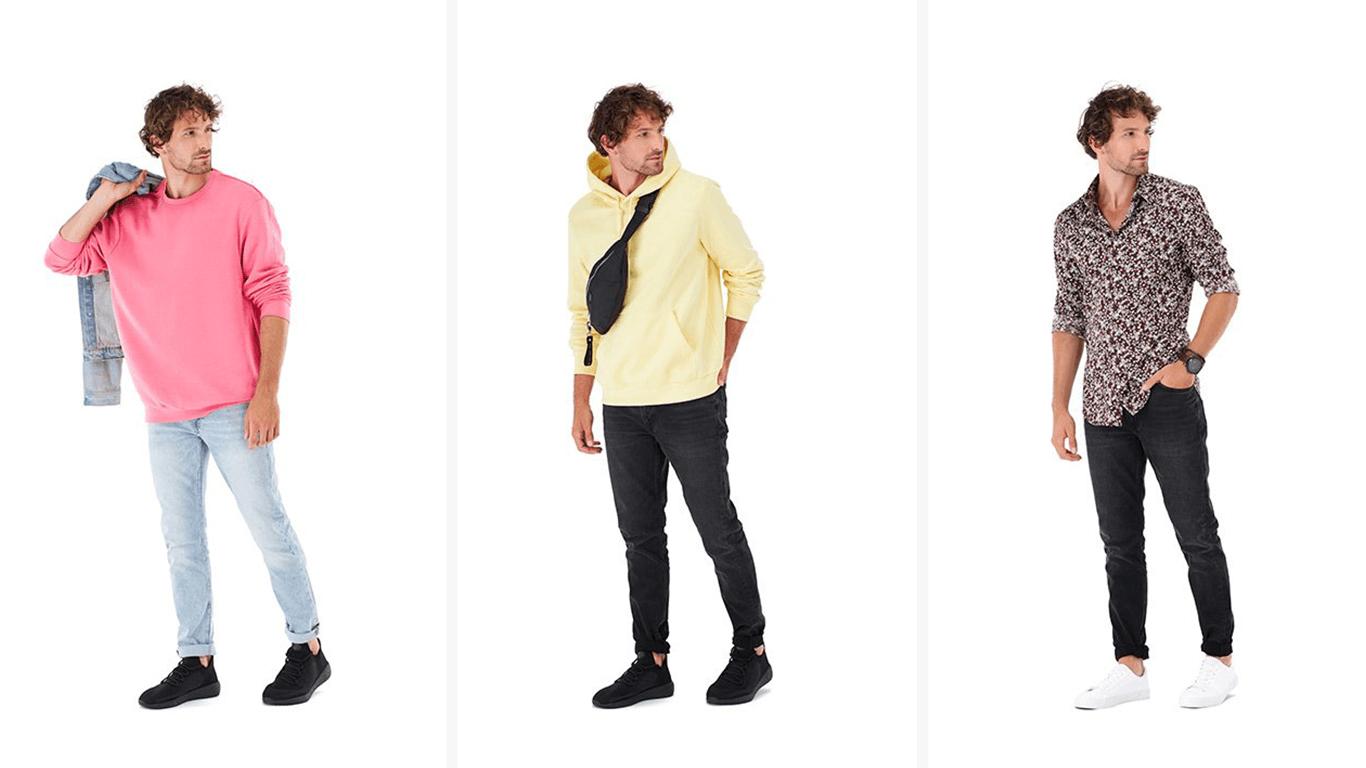 Rūbų fotografija su gyvais modeliais